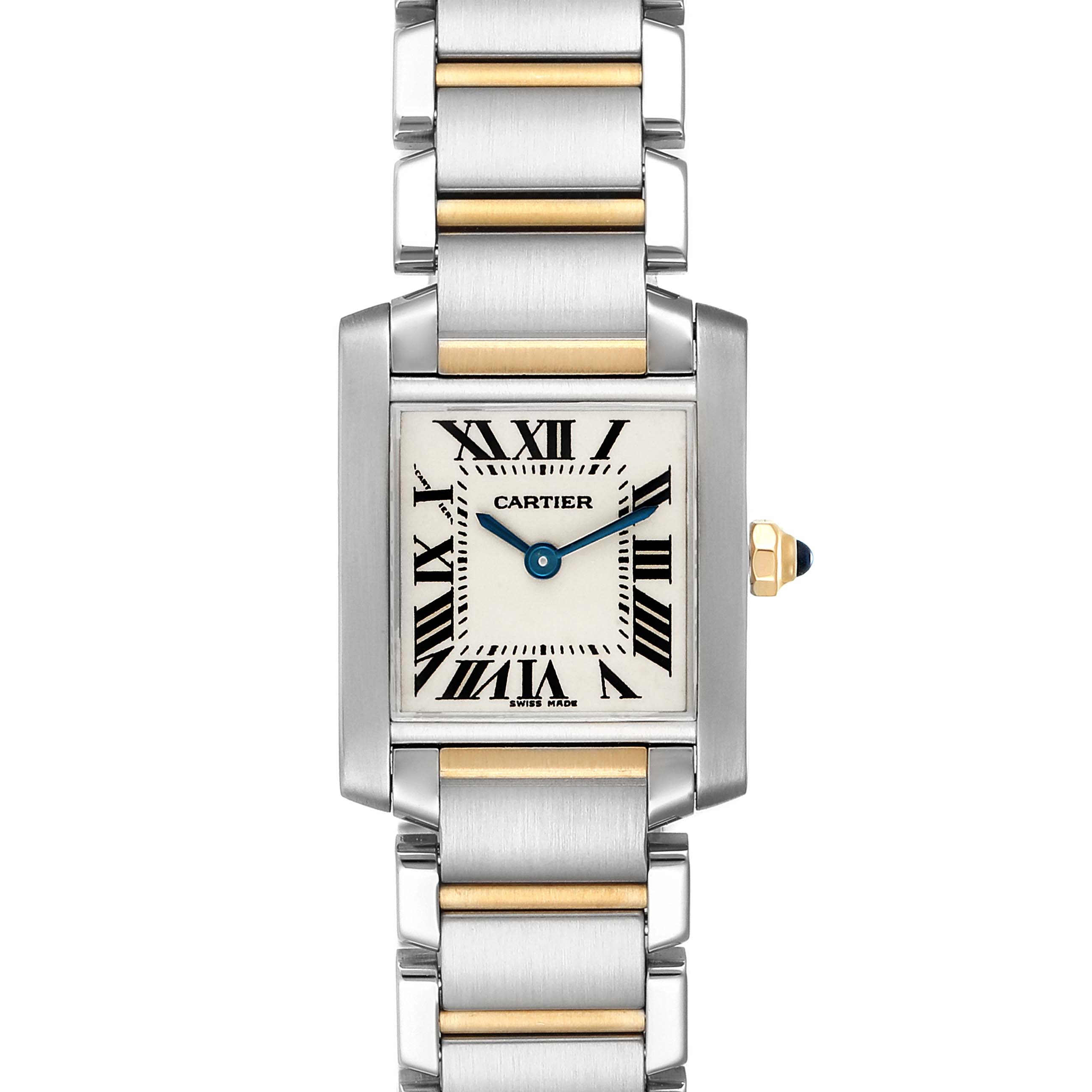 Cartier Tank Francaise Steel Yellow Gold Ladies Watch W51007Q4 Box Papers