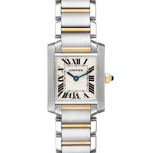 Photo of Cartier Tank Francaise Steel Yellow Gold Ladies Watch W51007Q4 Box Papers