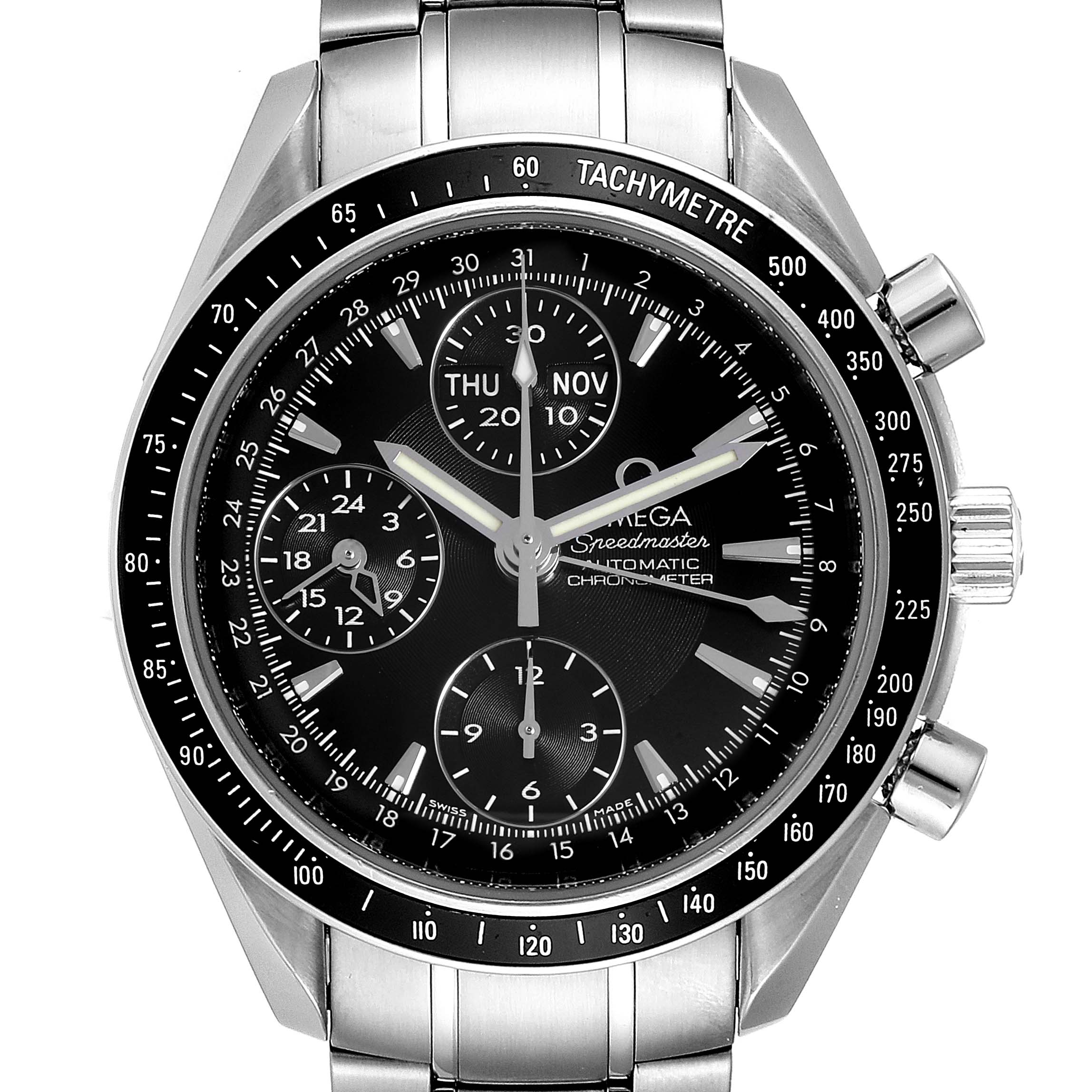 Omega Speedmaster Day-Date 40mm Chronograph Steel Watch 3220.50.00