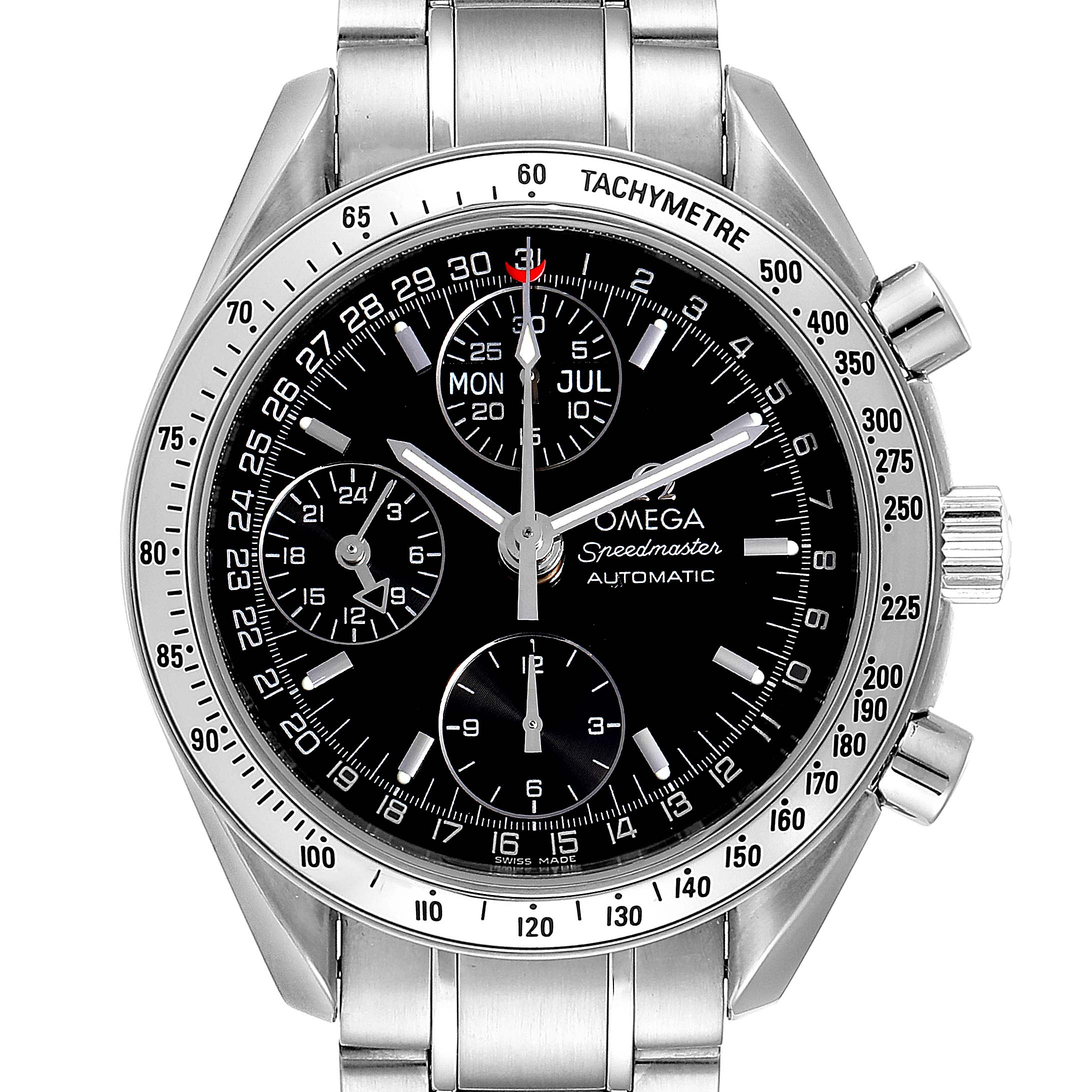 Omega Speedmaster Triple Calendar Black Dial Steel Mens Watch 3523.50.00