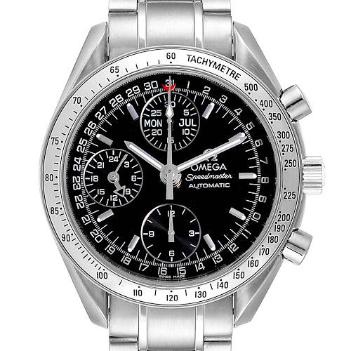 Photo of Omega Speedmaster Triple Calendar Black Dial Steel Mens Watch 3523.50.00