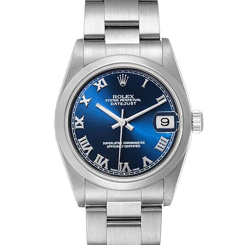 Photo of Rolex Datejust 31 Midsize Blue Dial Steel Ladies Watch 78240