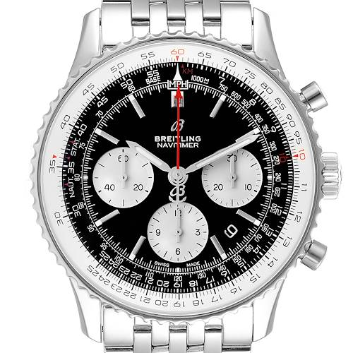 Photo of Breitling Navitimer 01 Black Dial Steel Mens Watch AB0121