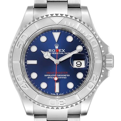 Photo of Rolex Yachtmaster Stainless Steel Platinum Blue Dial Watch 126622 Unworn