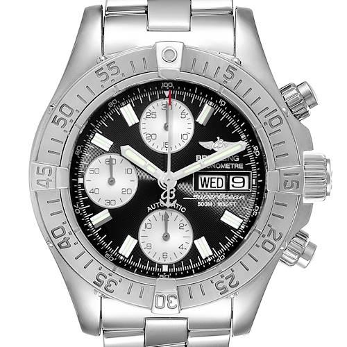 Photo of Breitling Aeromarine Superocean Black Dial Steel Mens Watch A13340
