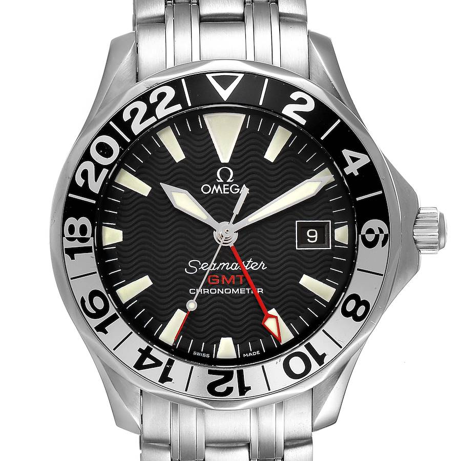 Omega Seamaster GMT 50th Anniversary Steel Mens Watch 2534.50.00 SwissWatchExpo