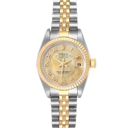 Photo of Rolex Datejust Steel Yellow Gold Decorated MOP Ladies Watch 79173 Box Papers