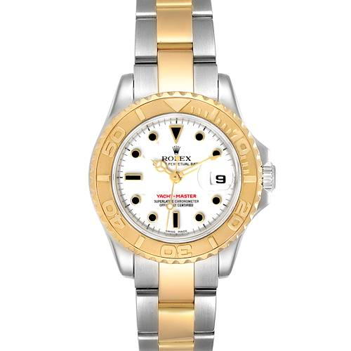 Photo of Rolex Yachtmaster 29mm White Dial Steel Yellow Gold Watch 169623 Box Papers