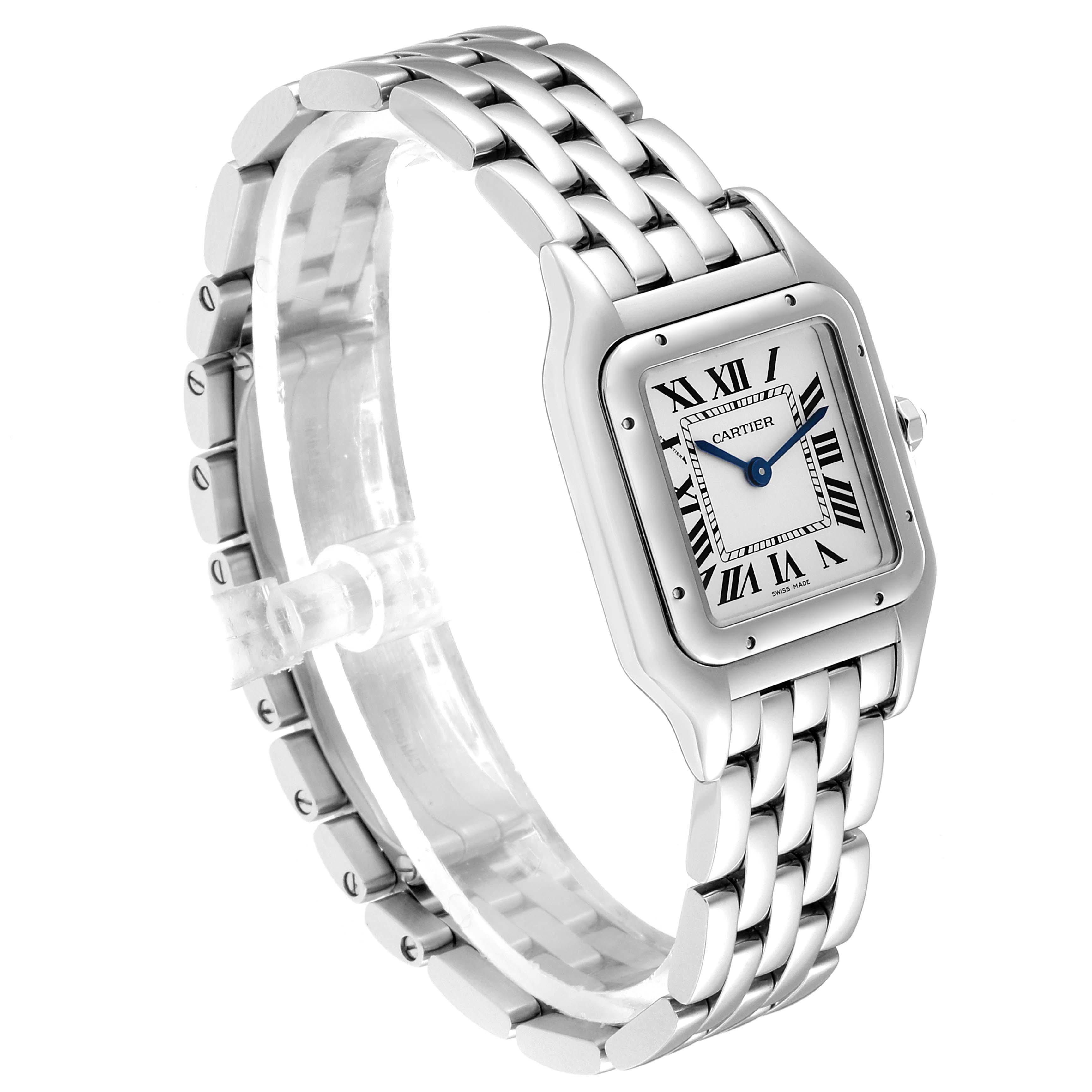 Cartier Panthere Midsize 27mm Steel Ladies Watch WSPN0007 Box Card SwissWatchExpo