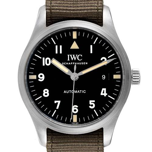 Photo of IWC Pilot Mark XVIII Black Dial Automatic Mens Watch IW327007 Box Papers