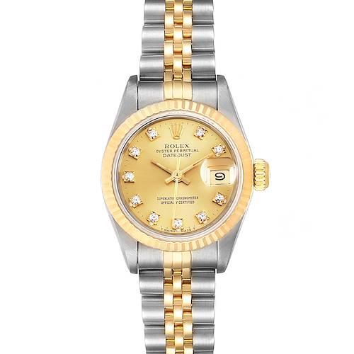 Photo of Rolex Datejust 26 Steel Yellow Gold Diamond Dial Ladies Watch 69173