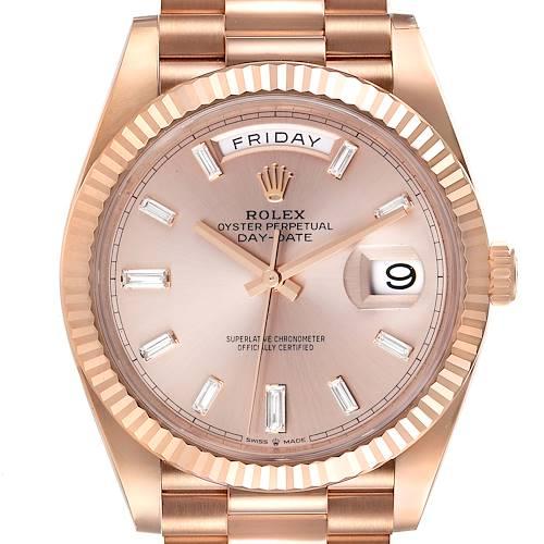 Photo of Rolex Day-Date 40 President Rose Gold Sundust Dial Watch 228235 Unworn