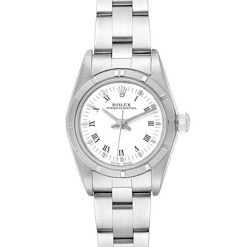 Photo of Rolex Oyster Perpetual White Dial Steel Ladies Watch 76030 Box Papers