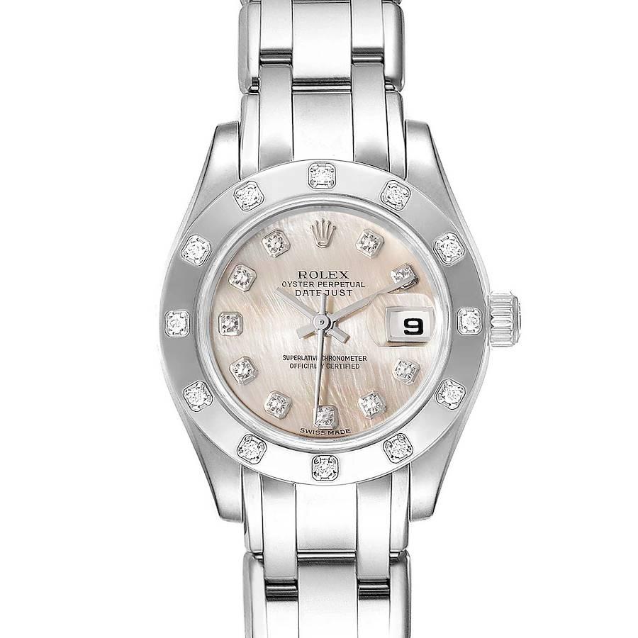 Rolex Pearlmaster White Gold MOP Dial Diamond Ladies Watch 80319 SwissWatchExpo