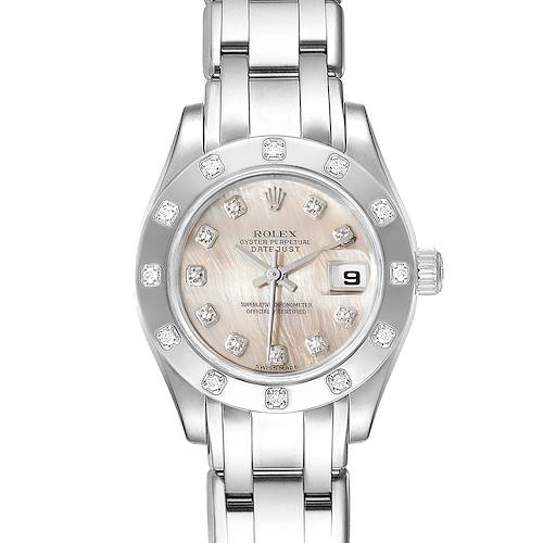 Photo of Rolex Pearlmaster White Gold MOP Dial Diamond Ladies Watch 80319