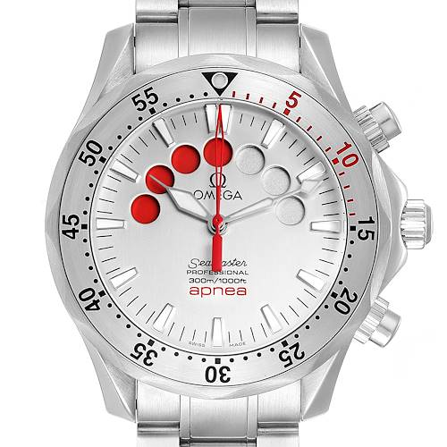 Photo of Omega Seamaster Apnea Jacques Mayol Silver Dial Mens Watch 2595.30.00