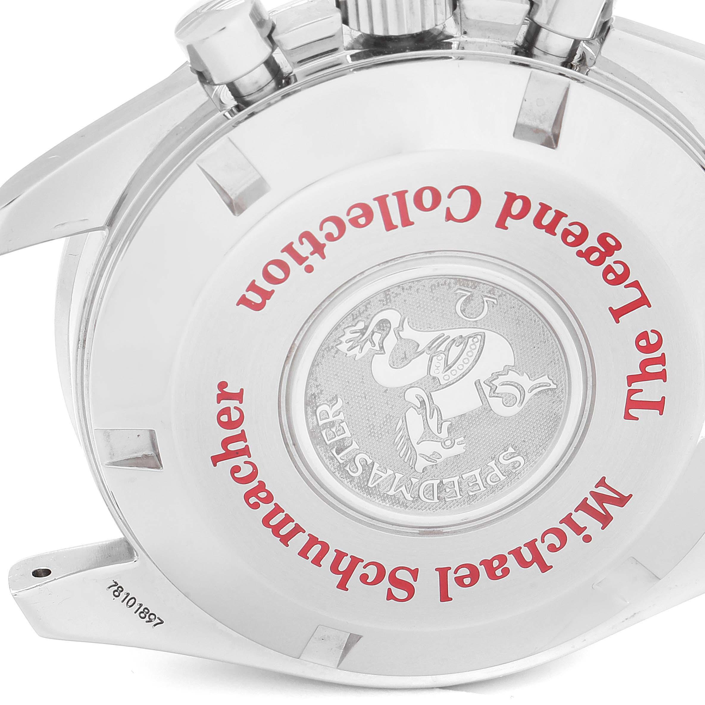 Omega Speedmaster Schumacher Legend Limited Edition Watch 3507.51.00 Box SwissWatchExpo