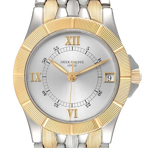 Photo of Patek Philippe Neptune Silver Dial Steel 18k Yellow Gold Mens Watch 5080