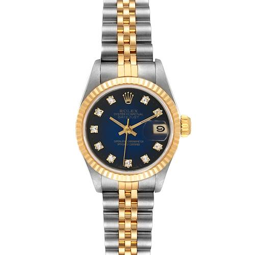 Photo of Rolex Datejust 26mm Steel Yellow Gold Diamond Ladies Watch 69173 Box Papers
