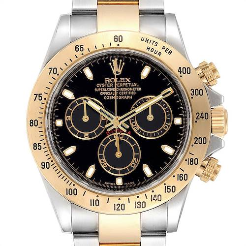 Photo of Rolex Daytona Steel Yellow Gold Black Dial Chronograph Mens Watch 116523 PARTIAL PAYMENT