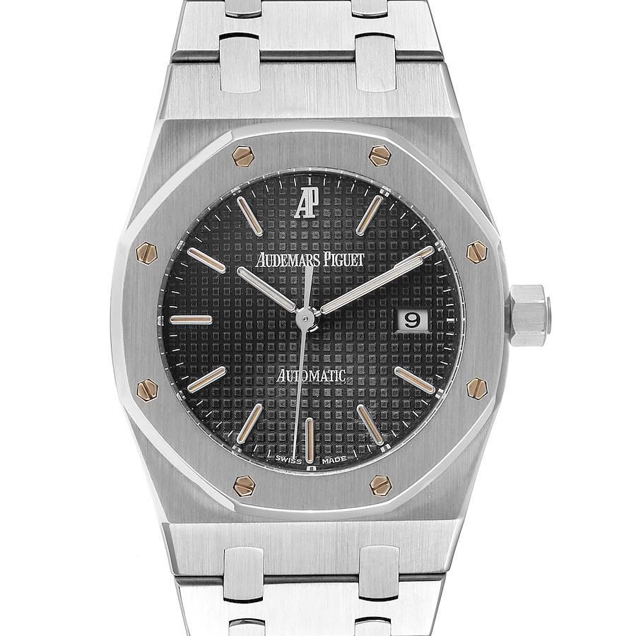Audemars Piguet Royal Oak Gray Dial Steel Mens Watch 15000ST Box Papers SwissWatchExpo