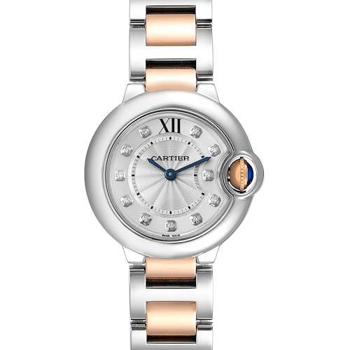 Photo of Cartier Ballon Bleu Steel Rose Gold Diamond Ladies Watch WE902030