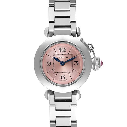 Photo of Cartier Miss Pasha Steel Pink Dial Ladies Watch W3140008 Papers