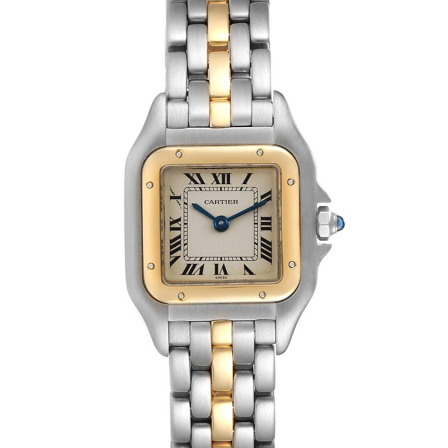Cartier Panthere Ladies Steel Yellow Gold One Row Ladies Watch W25029B5 SwissWatchExpo