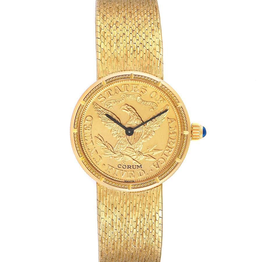Corum Coin 5 Dollars Double Eagle Yellow Gold Ladies Watch 1902 SwissWatchExpo