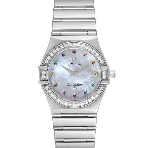 Photo of Omega Constellation Iris My Choice Steel Multi Stone Watch 1465.79.00