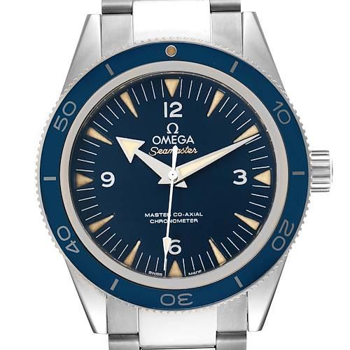 Photo of Omega Seamaster 300 Blue Dial Titanium Watch 233.90.41.21.03.001 Box Card