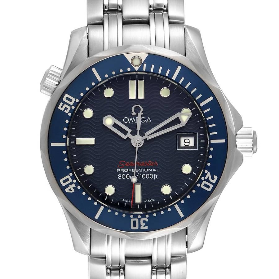 Omega Seamaster 300M Blue Wave Dial Midsize Watch 2223.80.00 SwissWatchExpo