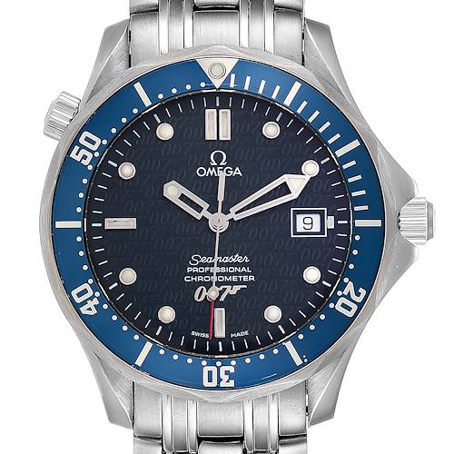 Photo of Omega Seamaster 40 Years James Bond Blue Dial Watch 2537.80.00 Card