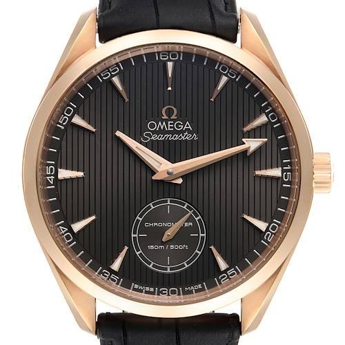 Photo of Omega Seamaster Aqua Terra XXL Rose Gold Watch 231.53.49.10.06.001 Box Card