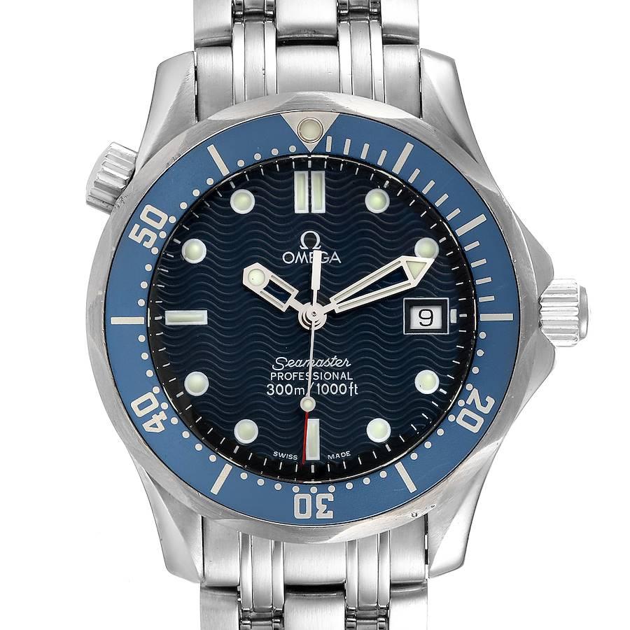 Omega Seamaster Bond 36 Midsize Blue Dial Steel Mens Watch 2561.80.00 SwissWatchExpo