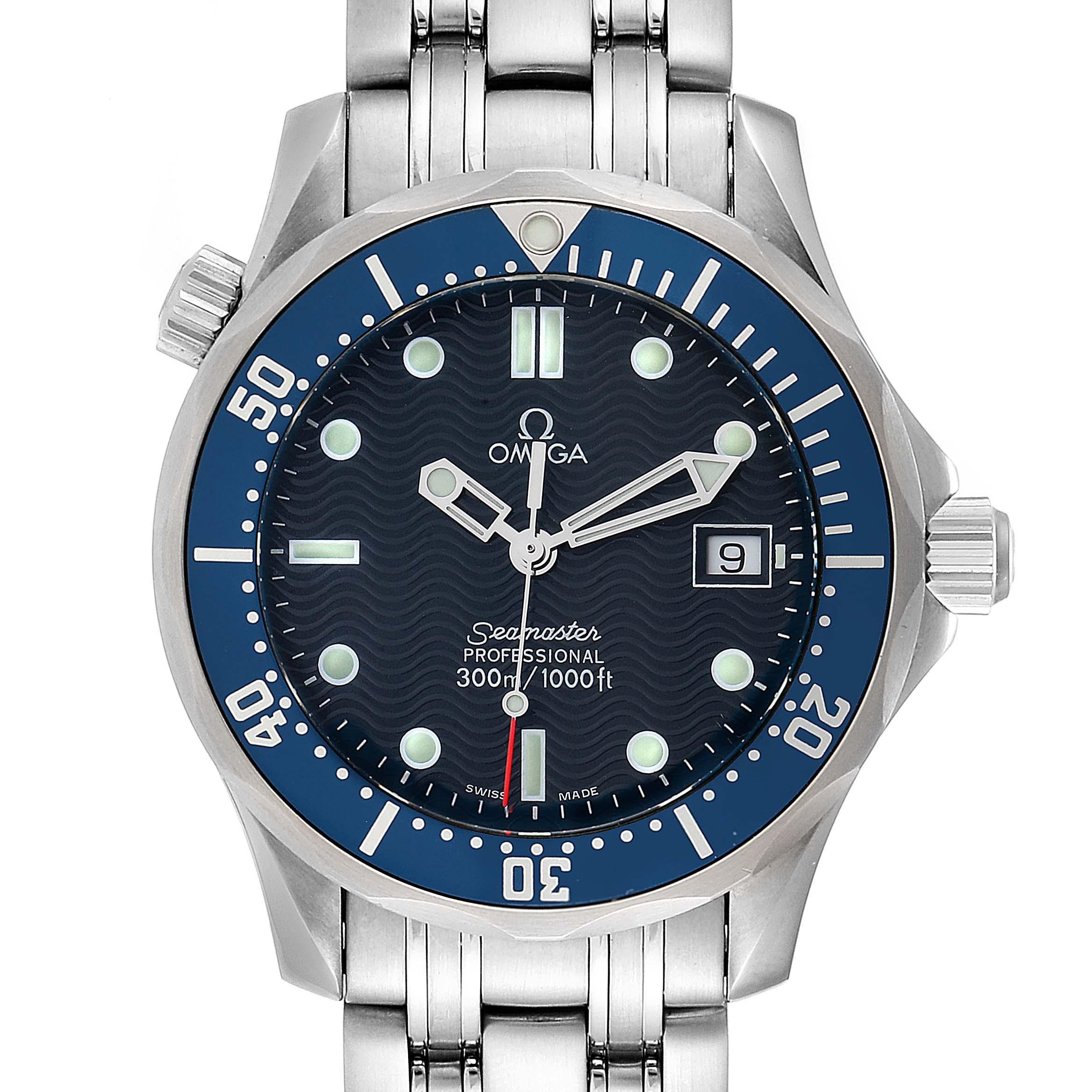 Omega Seamaster Bond 36 Midsize Blue Dial Watch 2561.80.00 Box Card