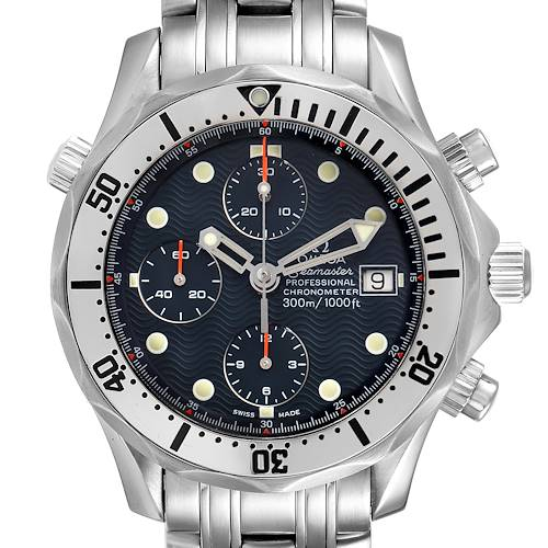Photo of Omega Seamaster Chronograph Blue Dial Steel Mens Watch 2598.80.00