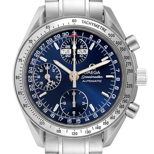 Photo of Omega Speedmaster Day-Date Blue Dial Steel Mens Watch 3523.80.00