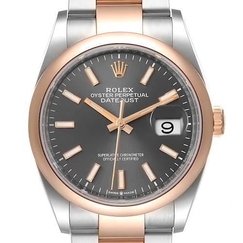 Photo of Rolex Datejust 36 Steel EveRose Gold Rhodium dial Mens Watch 126201 Unworn