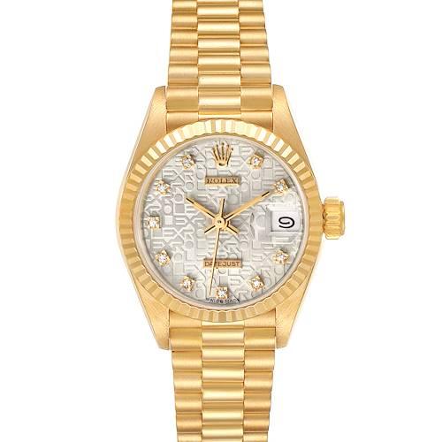 Photo of Rolex President Datejust 18K Yellow Gold Diamond Ladies Watch 69178