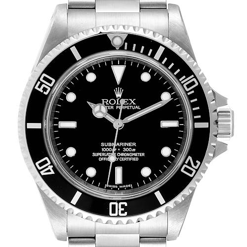Photo of Rolex Submariner 40mm Non-Date 4 Liner Steel Mens Watch 14060 Box Card