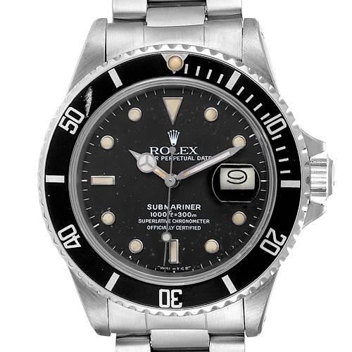 Photo of Rolex Submariner Date Steel Mens Vintage Watch 16800 Box