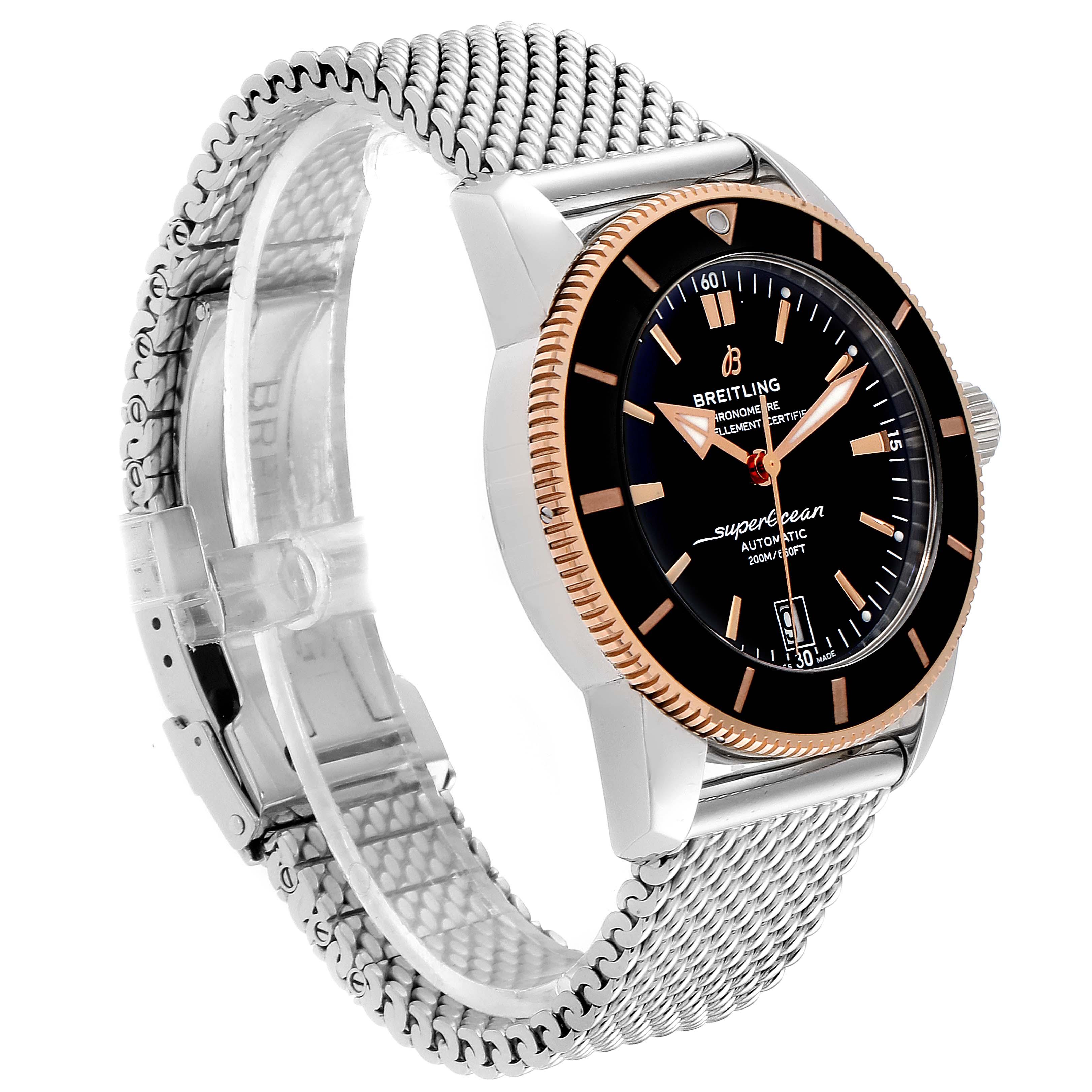 Breitling Superocean Heritage II 42 Steel Rose Gold Watch UB2010 Box Papers PARTIAL PAYMENT SwissWatchExpo