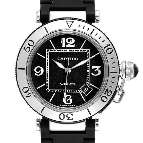 Photo of Cartier Pasha Seatimer Chronograph Rubber Strap Watch W31088U2 Box