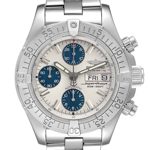 Photo of Breitling Aeromarine Superocean Silver Dial Steel Mens Watch A13340