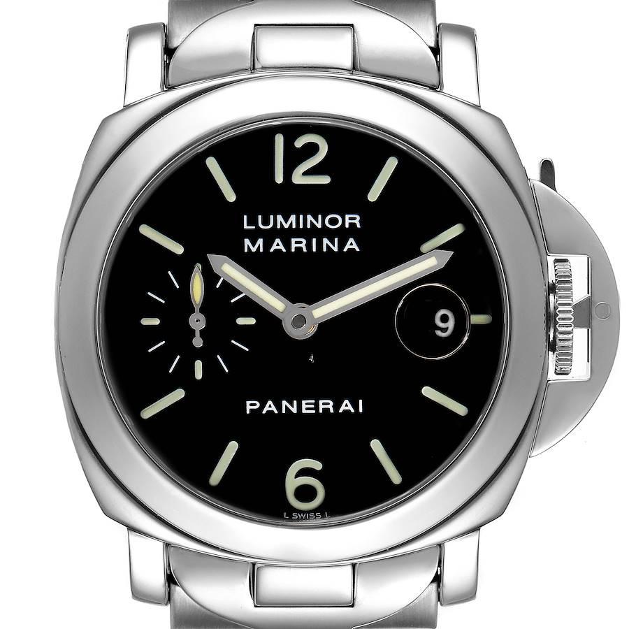 Panerai Luminor Marina Automatic 40mm Steel Mens Watch PAM00050 Box Papers SwissWatchExpo