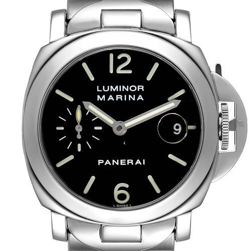 Photo of Panerai Luminor Marina Automatic 40mm Steel Mens Watch PAM00050 Box Papers