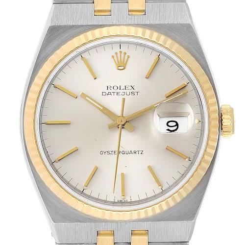 Photo of Rolex Oysterquartz Datejust 36mm Steel 18k Yellow Gold Mens Watch 17013