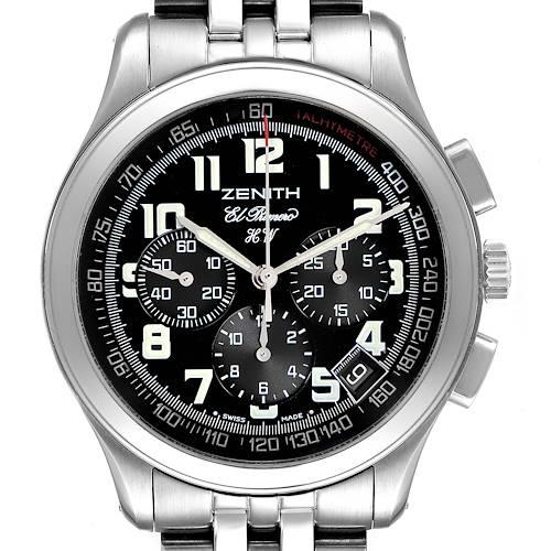 Photo of Zenith El Primero Handwound Cronograph Mens Watch 02.0500.420 Box Card