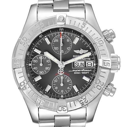 Photo of Breitling Aeromarine Superocean Gray Dial Steel Mens Watch A13340